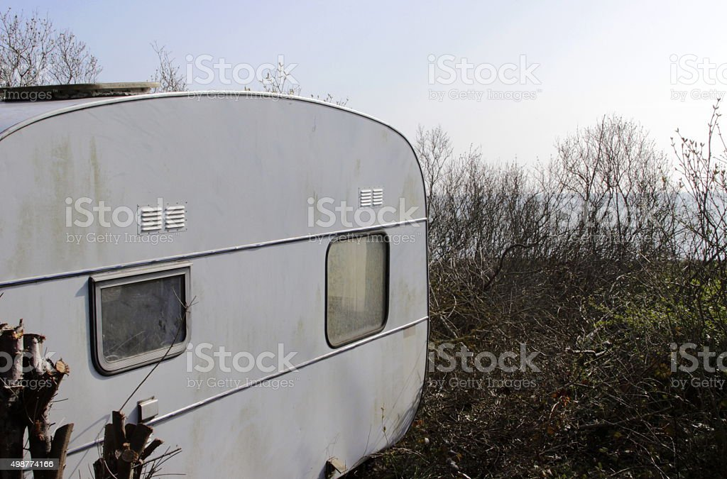 Camper in Denmark stock photo