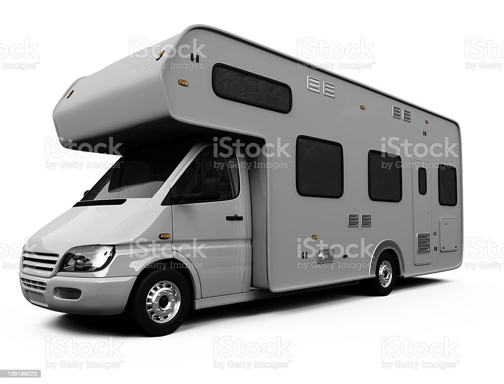 Camper isolated on white background royalty-free stock photo