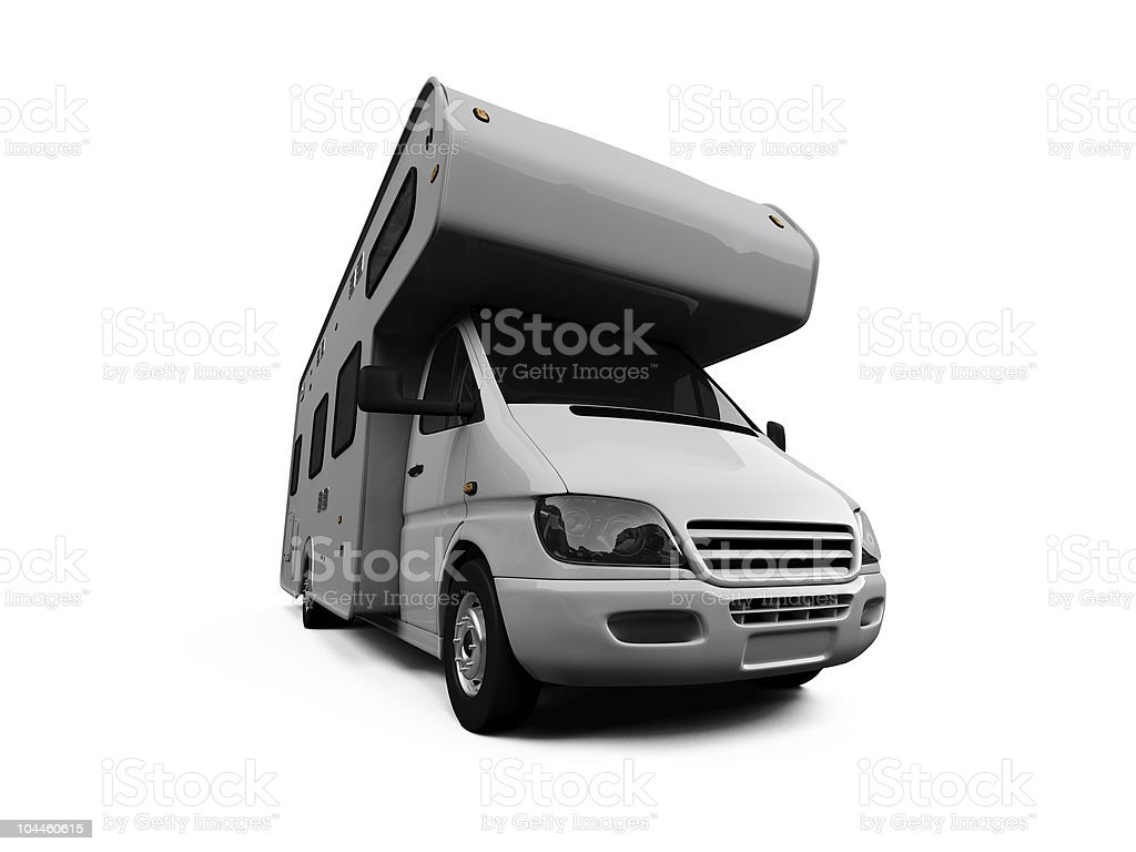 Camper isolated view royalty-free stock photo