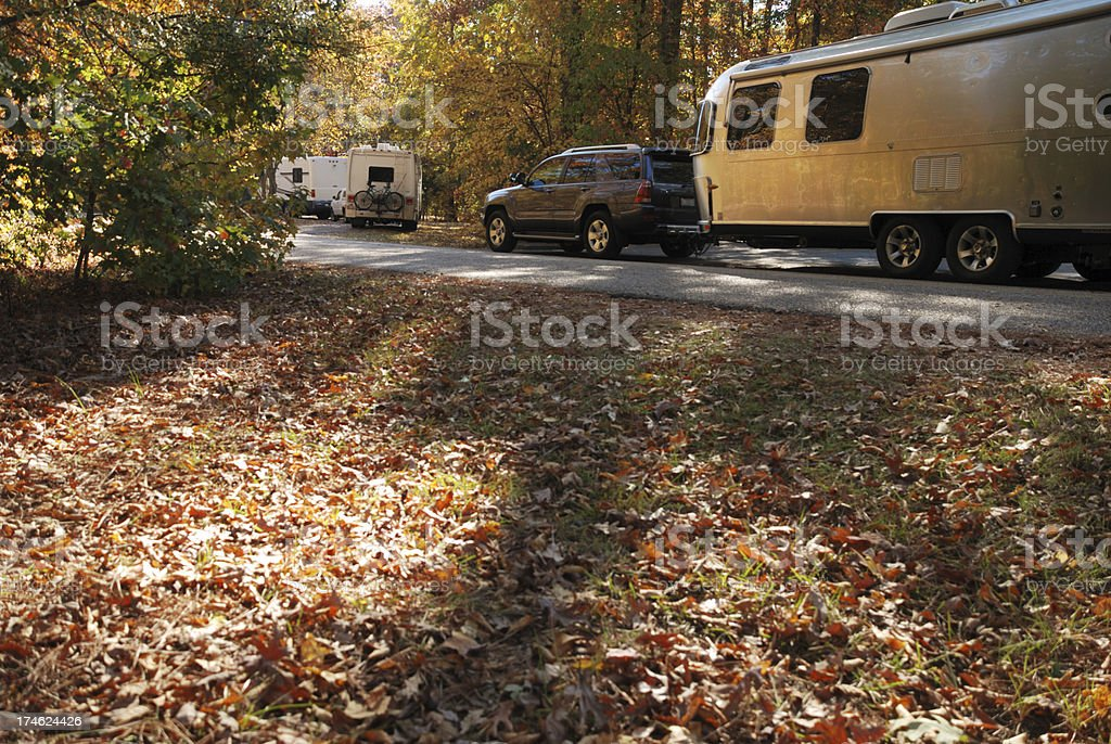 Camper leaving campground royalty-free stock photo