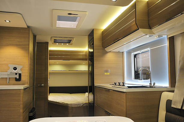 Camper It is a camper that was made in Japan rv interior stock pictures, royalty-free photos & images