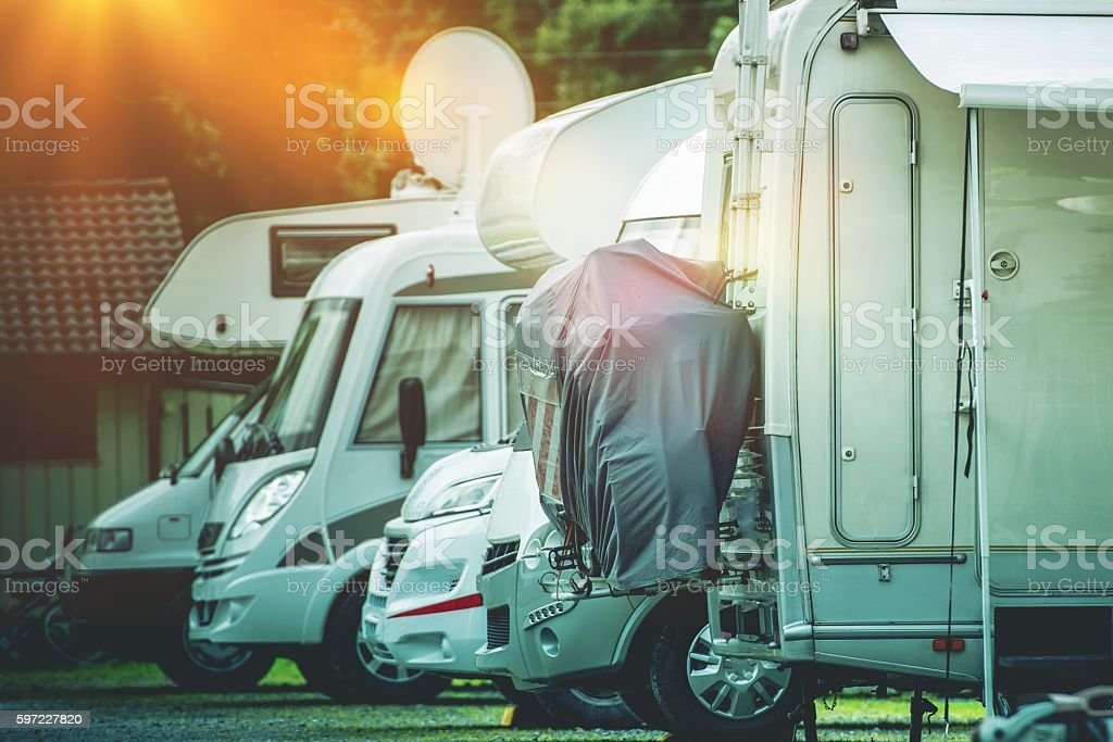 RV Camper Storage Place stock photo