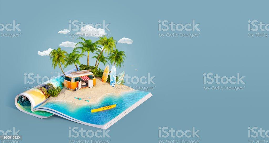 Wohnmobil auf einem Sandstrand – Foto