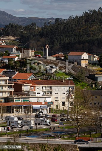 14 March 2021, Camper Van Park in Povoa de Lanhoso, a small village from the north of Portugal.