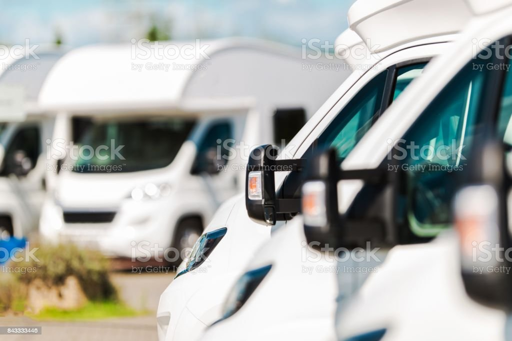 RV Campers For Sale stock photo