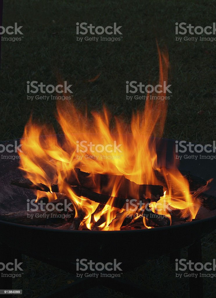 Campfire at Night royalty-free stock photo