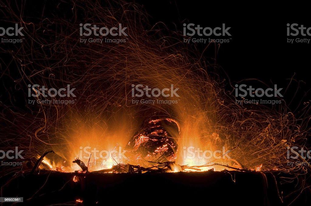 Campfire Burning royalty-free stock photo