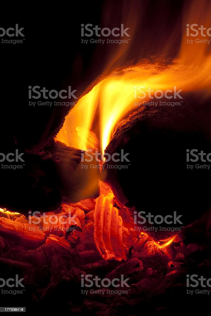 Campfire Detail royalty-free stock photo
