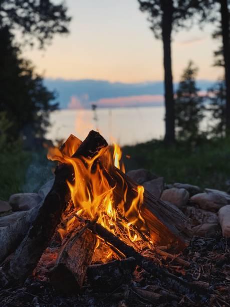 campfire - falò foto e immagini stock
