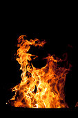 Campfire in the barrel..