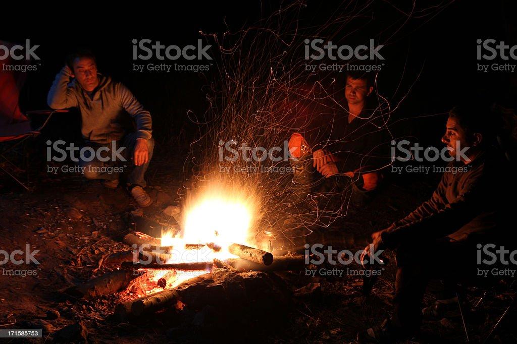 Campfire royalty-free stock photo