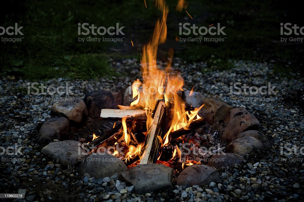 Campfire (series-four) royalty-free stock photo