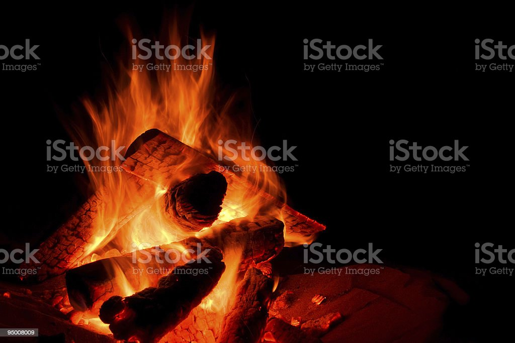 Campfire royalty-free stock photo