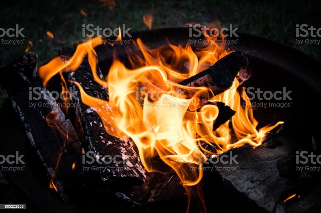 Campfire zbiór zdjęć royalty-free