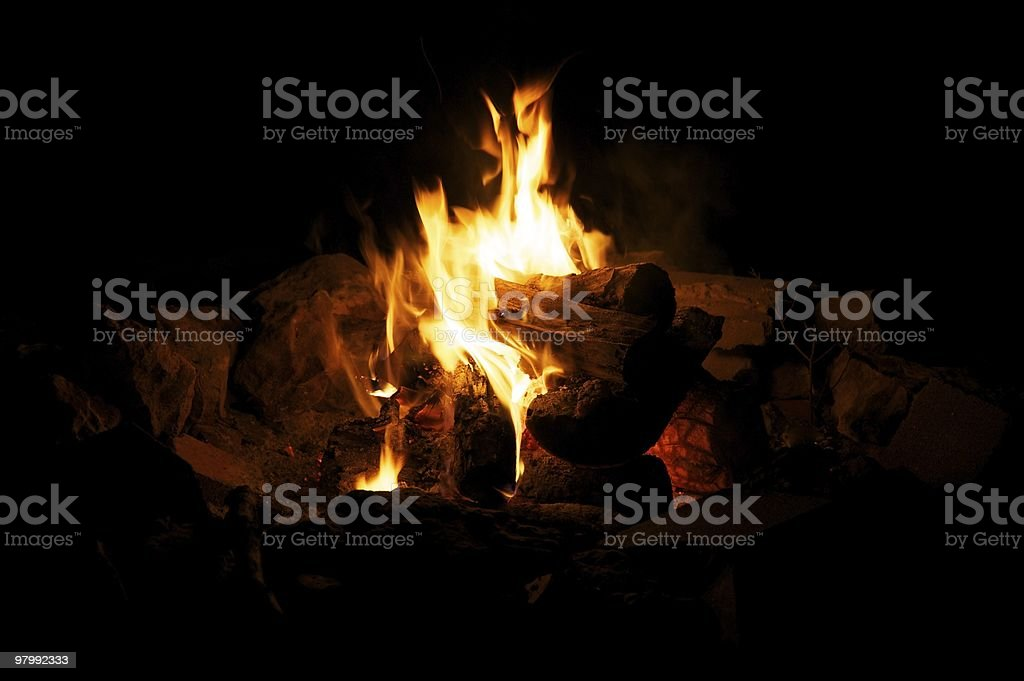 Campfire royalty free stockfoto