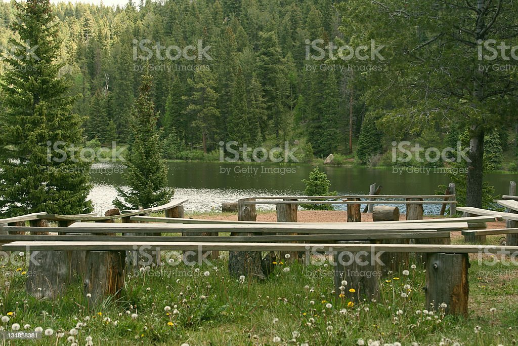 Campfire Seating royalty-free stock photo