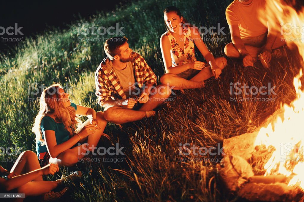 Campfire Storytelling Stock Photo - Download Image Now - iStock