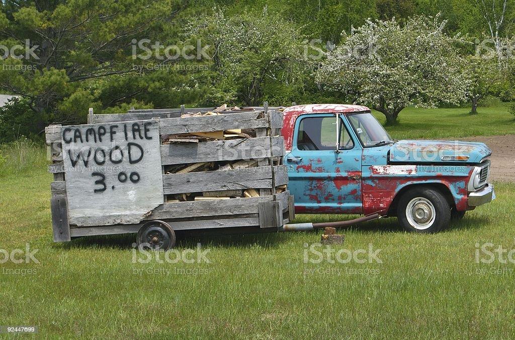 Campfire Wood royalty-free stock photo