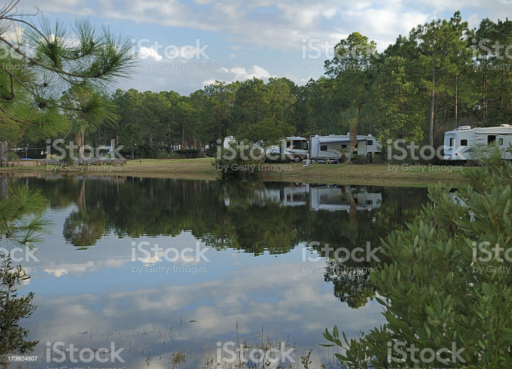 Campground by Lake royalty-free stock photo