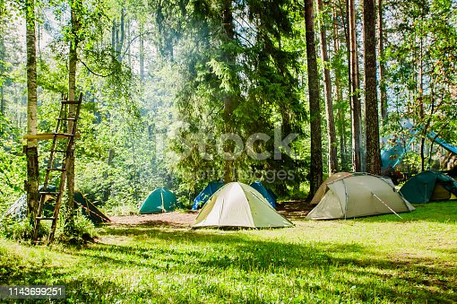 istock campground on the edge of the forest 1143699251