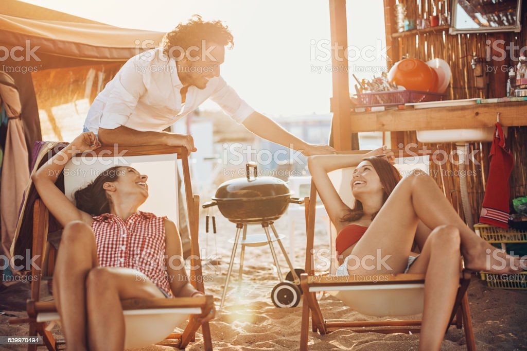 Camping and romances stock photo