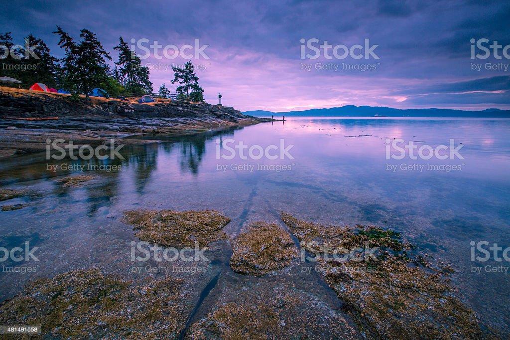 camping at Saltspring Island stock photo