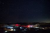 Camping and stargazing at Texas Springs Campground, Death Valley National Park, CA.