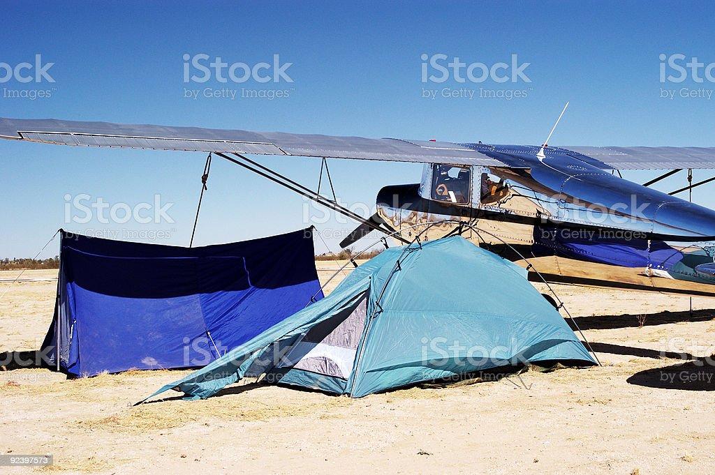 Camping at the Airport 2 royalty-free stock photo