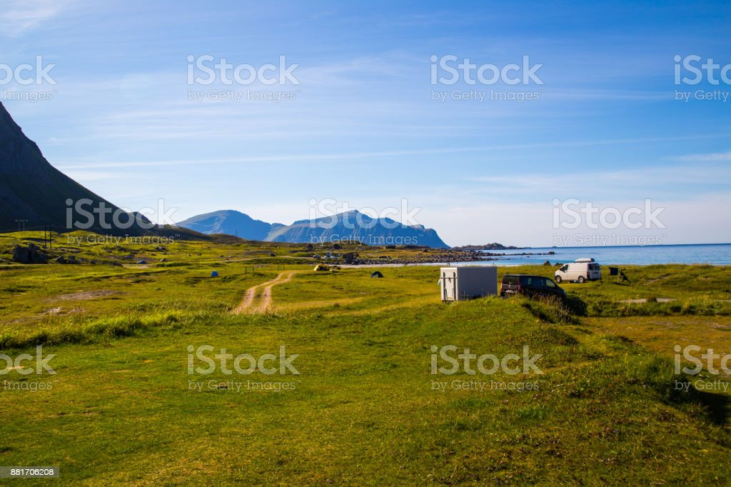 Camping auf den Lofoten, Norwegen – Foto