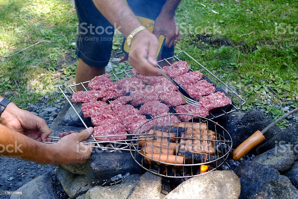 Camping barbeque royalty-free stock photo
