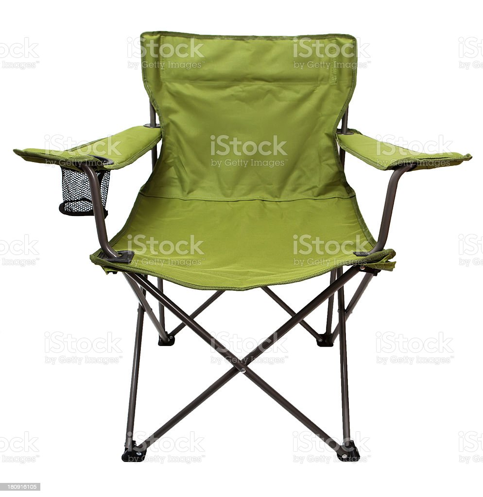 camping chair stock photo