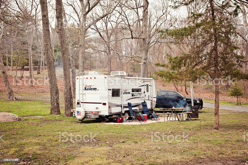Camping Cite in Long Island New York royalty-free stock photo