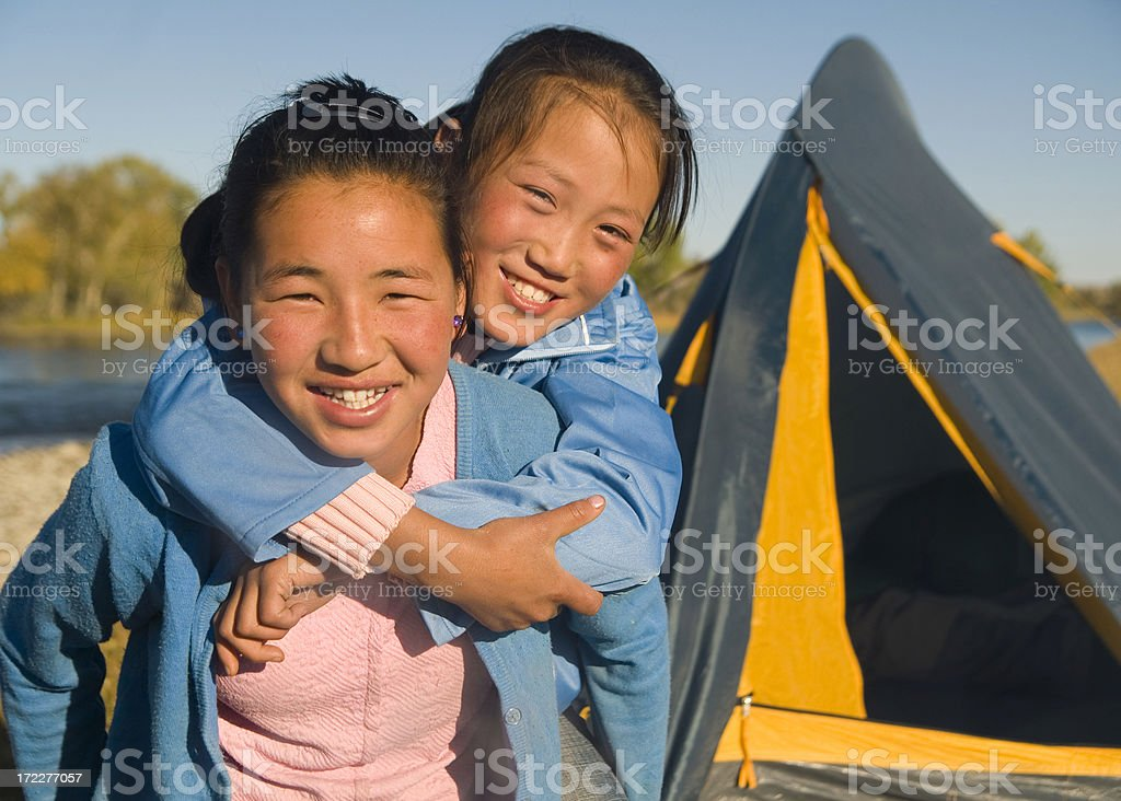 Camping Fun royalty-free stock photo