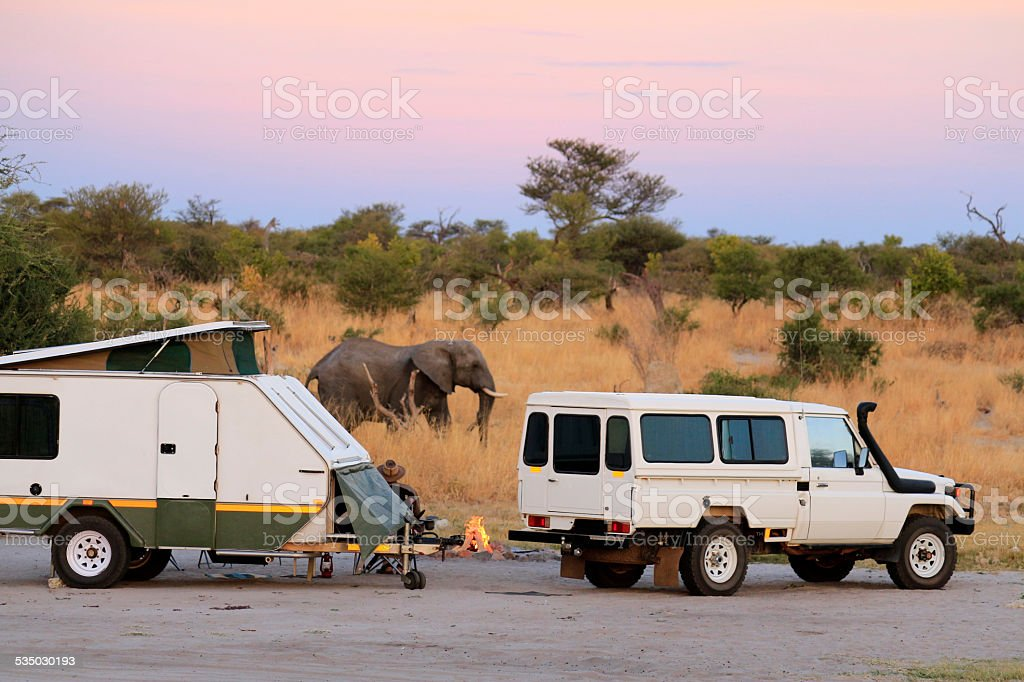 Camping in Africa stock photo