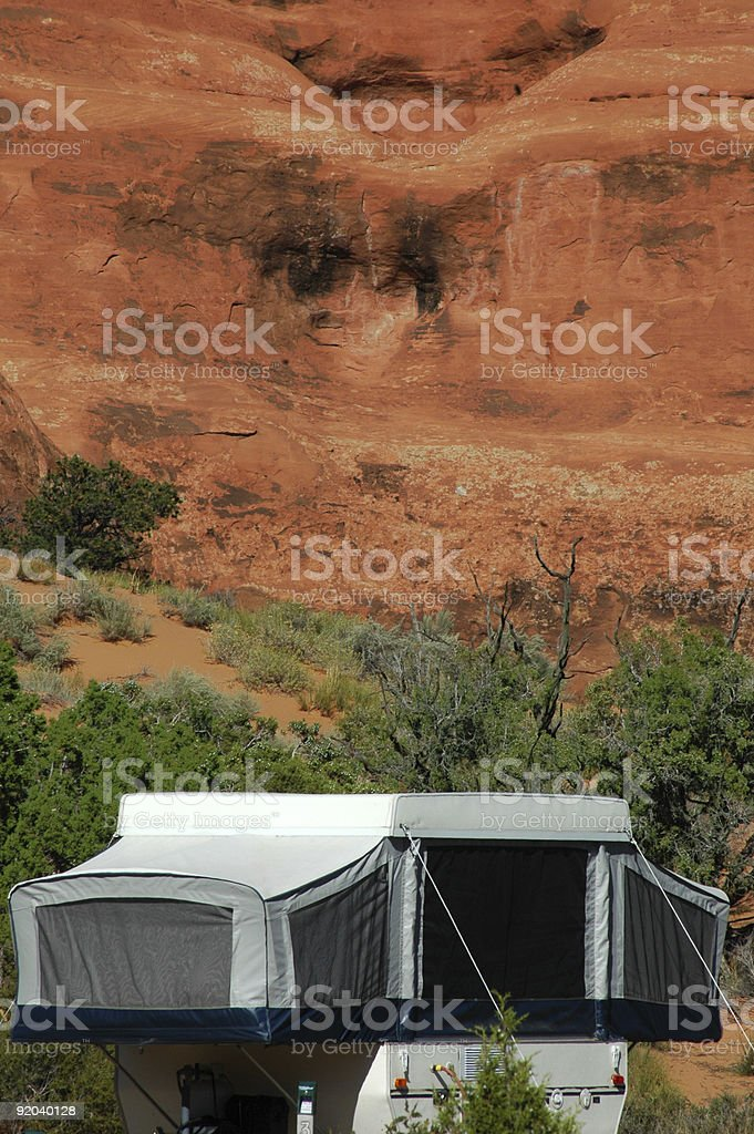 Camping in Arches National Park, Utah royalty-free stock photo