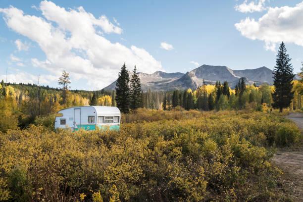 RV Camping in Colorado stock photo