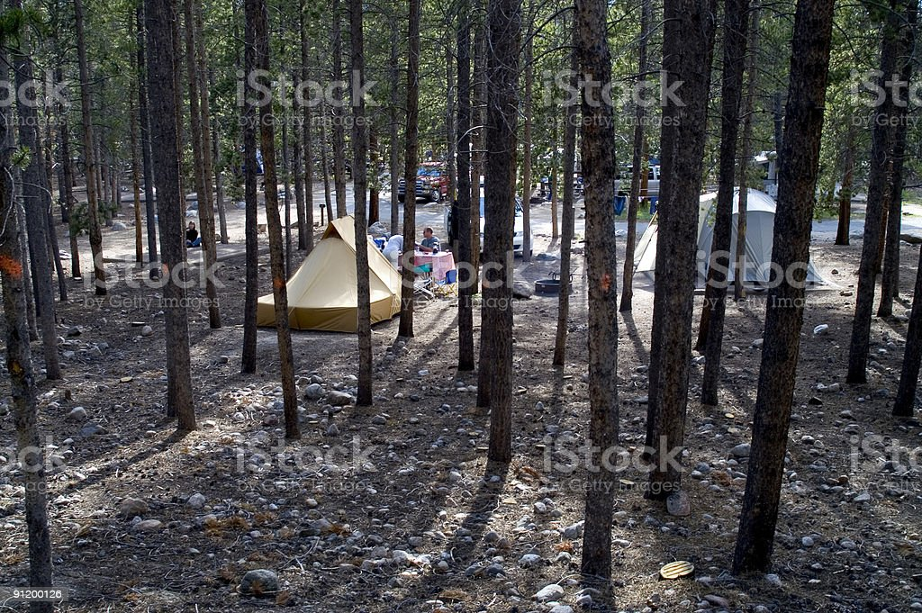 Camping in Colorado stock photo