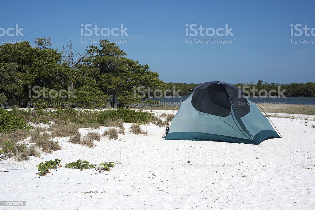 Camping in Everglades stock photo