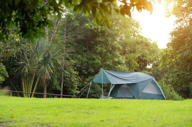 Camping im Wald – Foto