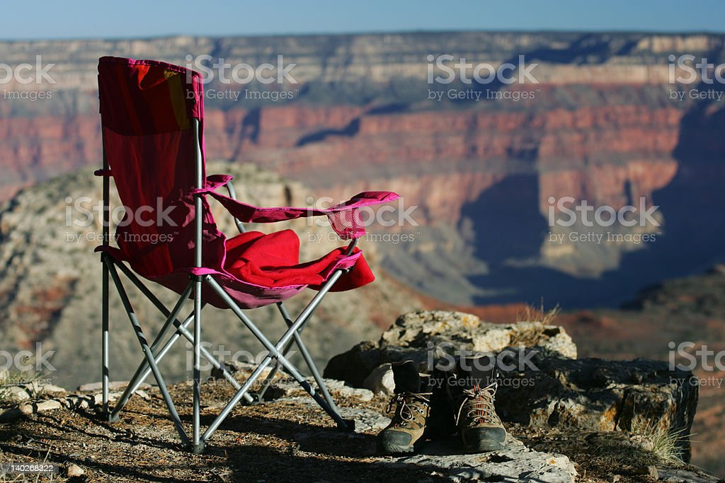 Camping in Grand Canyon royalty-free stock photo