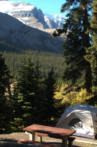 Camping In The Canadian Rockies Stock Photo - Download Image Now
