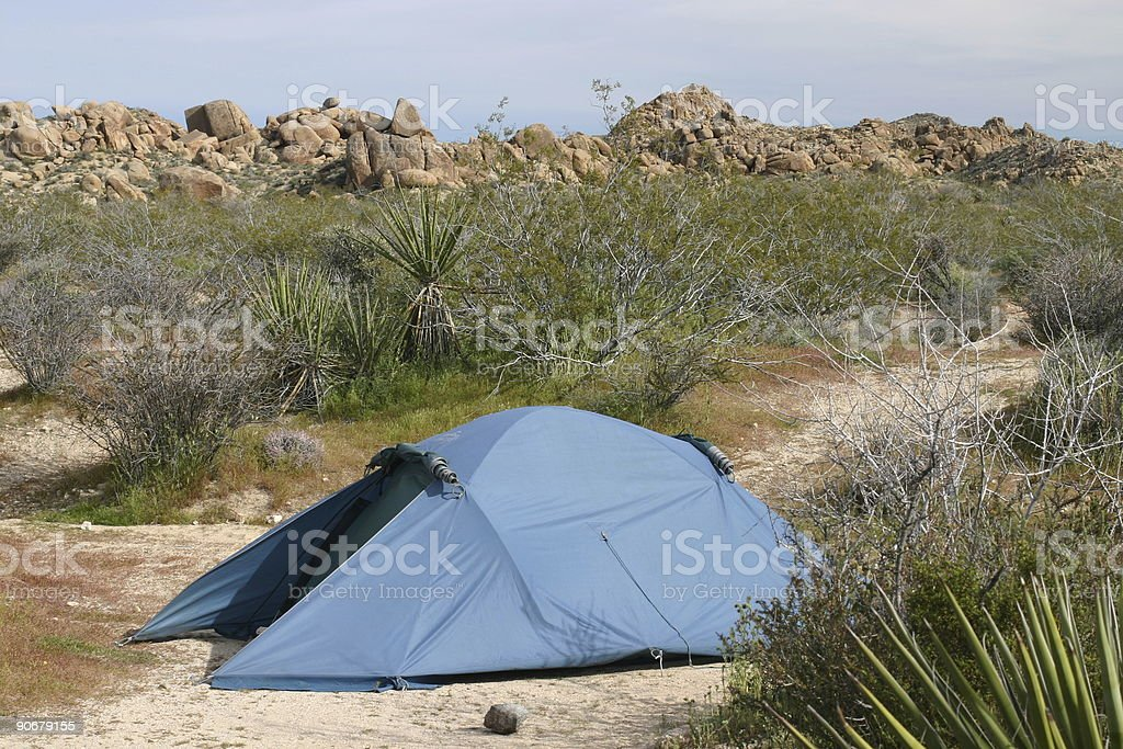Camping in the desert royalty-free stock photo