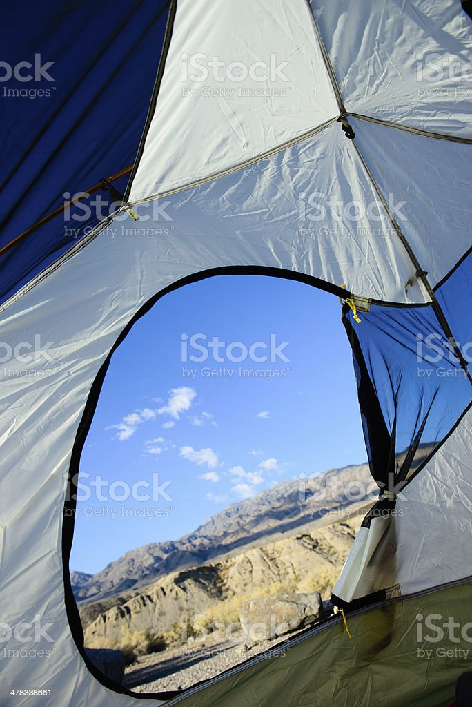 Camping in the Desert - Verticle royalty-free stock photo