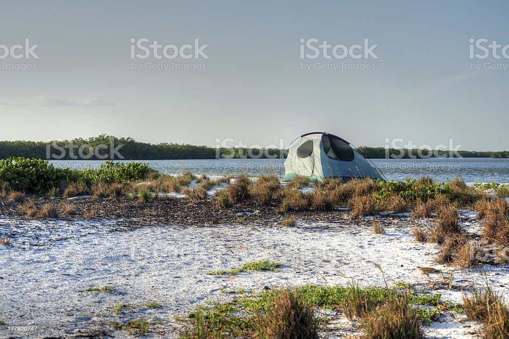 Camping in the Everglades stock photo