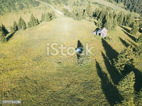 Camping in the idyllic mountain meadow