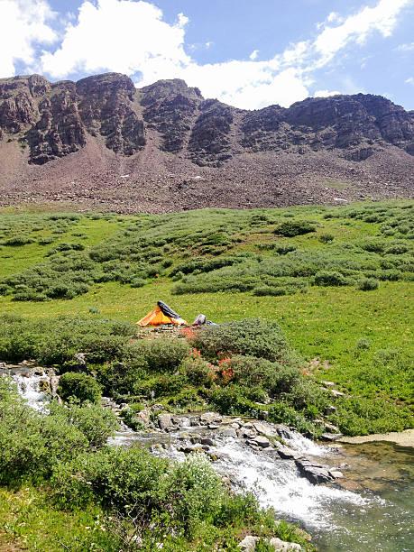 camping in den bergen - hohes venn stock-fotos und bilder