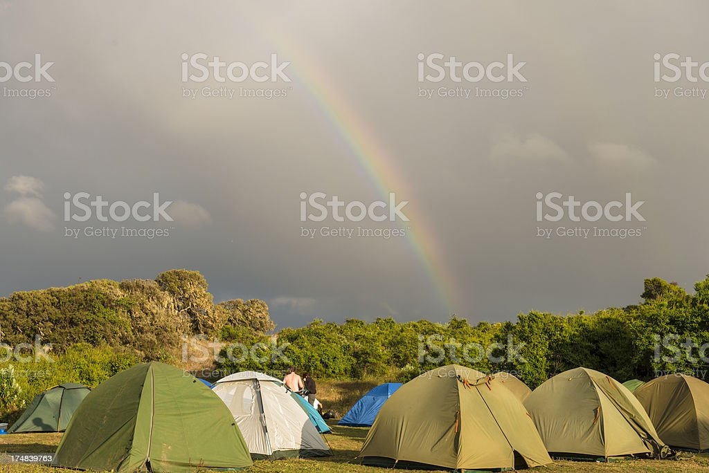 Camping in the Simen mountains royalty-free stock photo