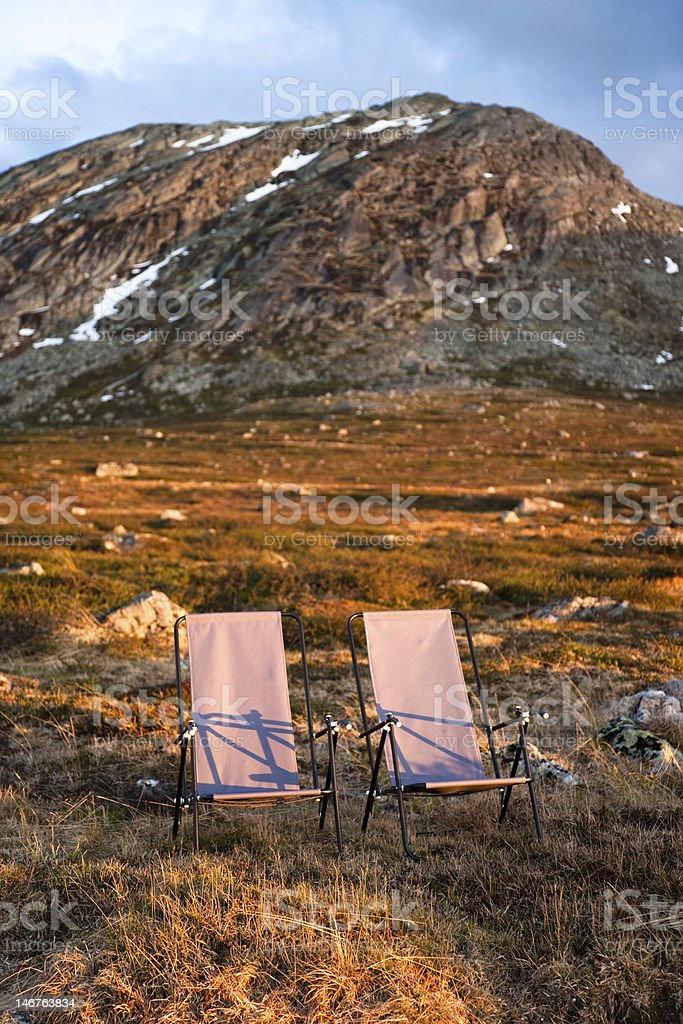 Camping in the Wild stock photo