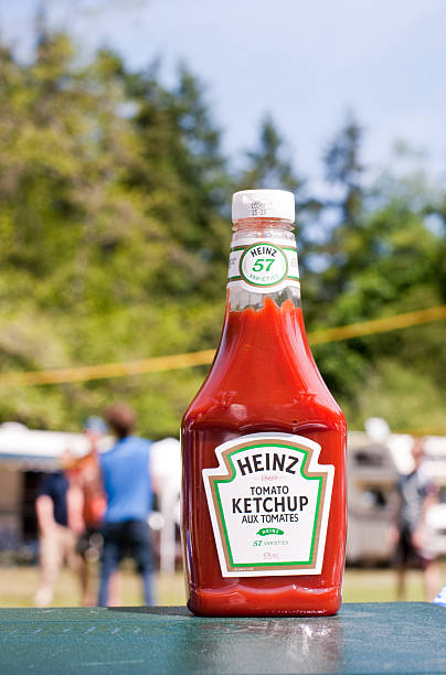 camping ketchup - heinz stock photos and pictures