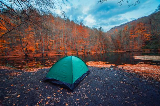 Camping am Morgen – Foto